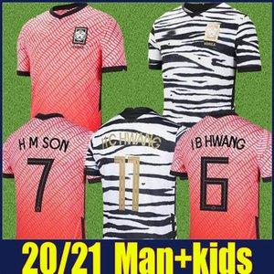 2020 Южная Корея футбол Джерси дома красный H C HWANG H M SON футбольные рубашки I B HWANG S Y KI футбол единообразные 20/21 Южная Корея Дети комплект Enfants
