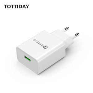 18W USB Quick Charger EU Wall Fast Charger QC3.0 QC2.0 Adapter For iPhone XS 8 Samsung Xiaomi Mobile Phone Chargers