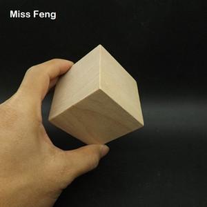 B258 / 1 stücke 6 cm Natürliche Farbe Holzwürfel Jenga Blocks Geschicklichkeit Stapel Aufgewachsen Spielzeug Turm Zusammenbricht Spiele Kinder
