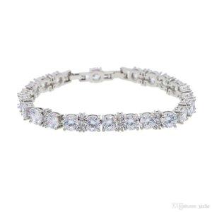 2018 Lab gioielli con diamanti enegagement nozze braccialetto per gli uomini ragazzo Bling fuori ghiacciato braccialetti hiphop di diamanti