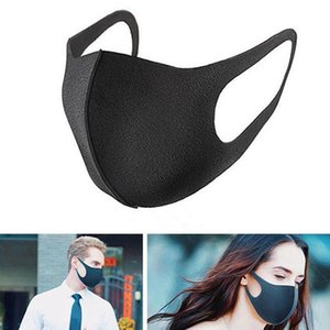 500pcs Черного Рот маски Nano дышащая Мужская маска Многоразовая против пыли против загрязнения окружающей среды Защитной ветрозащитности Mouth крышка H0550