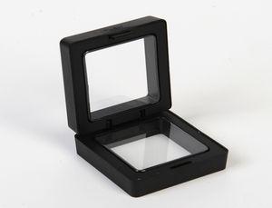 50 * 50mm trasparente galleggiante display cassa orecchino gemme anello gioielli sospensione scatola di imballaggio PET supporto del basamento della membrana