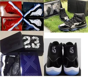 with box 2018 cap and gown XI 11s PROM NIGHT 11 BLACKOUT Mens women Kids Basketball Shoes Athletic Sneakers 11s Trainer shoes 36-47