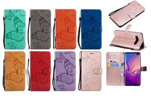 Mentions légales papillon Porte-monnaie en cuir pour Huawei P30 Galaxy Note Pro 20 Ultra S10 S10E plus Sun Flower Arbre à chat fente pour carte flip Sangle Longe