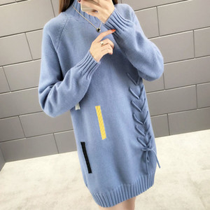 2019 Winter Warm Pullover Sweater Knitted Women Long Sleeve Pull Sweaters Tops Ladies Long Pullovers Jumper O-Neck Top Female