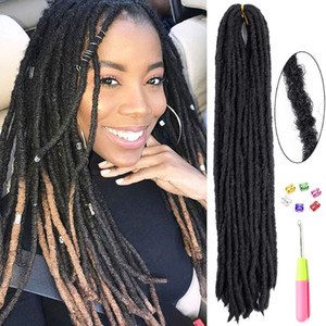 5 Pcs Soft Dreadlocks Faux Locs Crochet Hair Straight Goddess Locs Crochet Braids Hair Crochet Locs 20 Inch Synthetic Loc Extensions