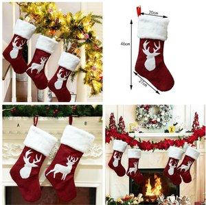 Presentes Xmas Bag 2 Estilo Meias do Natal Decor ornamento partido das árvores de Natal Decorações Stocking Meias doces do Natal de Santa Bolsas