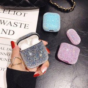 بلينغ الماس حالة ترف لحالة Airpod كاندي لطيف الألوان مصمم فتاة الغطاء الواقي للحالات Airpods جرلي اكسسوارات حريمي