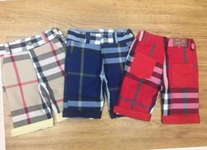 2019 뜨거운 판매 새로운 도착 브랜드 아이 여름 귀여운 색상 lattices 아기 소년 반바지 모든 일치하는 어린이 소년 바지 2 색 무료 배송