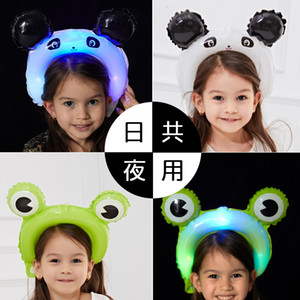 Çeşitli Stil 0 93hg J1 ile Noctilucent Saç Bandı Balonlar Yetişkin Çocuk Kafa Balon Led Taşınabilir Güzel Kafa Hoop Sıcak Satış