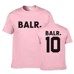 Magliette di estate O del collo manica corta Stampa Mens Tops Moda traspirante adolescenti Tees BALR progettista del Mens