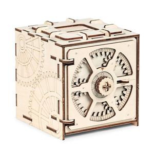 صندوق ودائع الشيفرة ثلاثي الأبعاد الألغاز الميكانيكية نموذج الألغاز الخشبية مجموعة الألعاب التعليمية والخطوات التفصيلية للخياطة Y200414