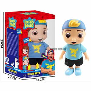 New Arrival 25 centímetros Luccas Neto boneca Action Figure Toys 8Inch vinil Modelo Boneca Com Som Crianças Presente de Natal