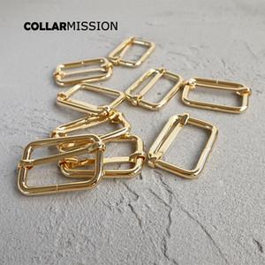 10pcs / lot Diy für Hundehalsband Metall Zubehör verstellbare Schnalle golden 30mm Gurtband Nähen Rucksacktragegurt Tasche plattierten Metallteller LXK30J