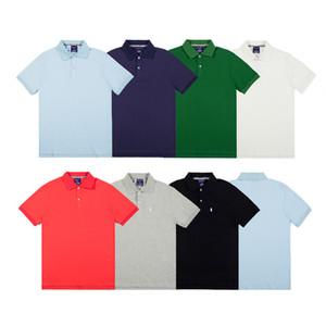 Nova moda polo para homens mulheres tops marca s mens clothing manga curta t-shirt dos homens tops streetwear maré cottom ocasional respirável
