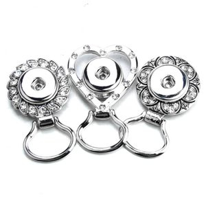 Magnet heart crystal Vintage sunglasses buckle 18mm metal snap button female DIY jewelry ZM038