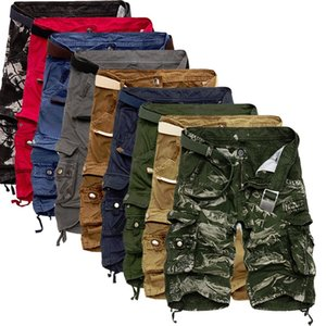 Verano del Mens holgado pantalón corto de carga caliente venta de la manera ocasional del camuflaje de algodón suelta herramienta macho cortocircuitos más el tamaño