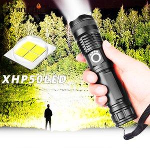 LED ultra brillante XHP50.2 más potente linterna USB Zoom llevó la antorcha XHP50 18650 o 26650 batería recargable