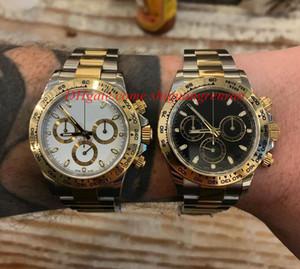 최신 뜨거운 판매 럭셔리 다이아몬드 시계 COSMOGRAPH의 40mm 116,500 116,503 116,508 두 톤 기계 자동 남성 손목 시계 없음 크로노 그래프