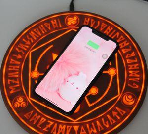 Tampon Benzersiz tasarımı Şarj Sıcak Satış Moda Ve Cazip 10W Standart Parlayan Sihirli Dizi Kablosuz Cep Telefonu Şarj