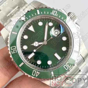 Green Top Ceramic Bezel Mens 2813 Mecánico Acero Inoxidable Movimiento Automático Reloj Deportes Sports Wind Watches WristWatches Biempo