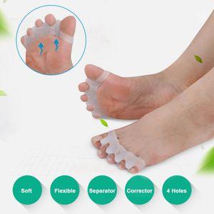 Pés Hálux Valgo Pé Ortopédico Dedos Do Dedo Corrector Polegar Dedos Separador Divisor Protetor Ajustador Ferramenta de Cuidados Com Os Pés 1 Par