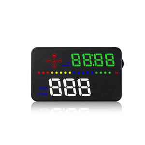 "3.5"" Car Windshield OBD2 HUD Head Up Display Speed Fatigue Warning Fuel Consumption System"