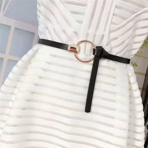 2019 New Fashion Lady women small waist belt decoration with dress fashion simple joker Korean style belt 9 colour