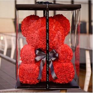 Rosa Oso Decoración de fiesta de bodas Regalo del día de San Valentín Regalo de dibujos animados lindo Súper novia Novio Regalo Amor Oso Muñecas Presente
