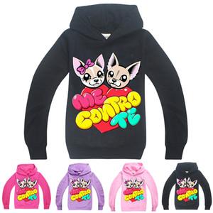 ME CONTRO TE 귀여운 개 키즈 후드 봄과 가을 4 색 6~14톤 어린이 여자 풀오버 후드 스웨터 아이 디자이너 옷 SS302
