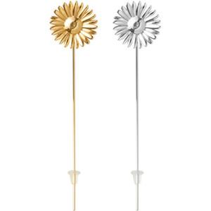 EMBOSCADA 925 Simples e Estilo Fria Gold e Silver Daisy Ear Nails Temperamento Deusa pequena flor fresca Brincos Gift Box Original