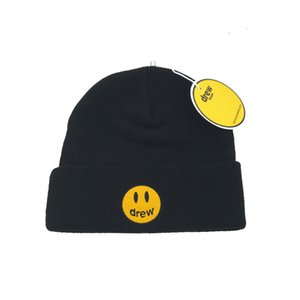 Stylish Smile Fashion Wool Cap Embroidery Letter Warm Beanie Unisex Winter Knitted Hat Outdoor Knitted Hat Adult Beanie