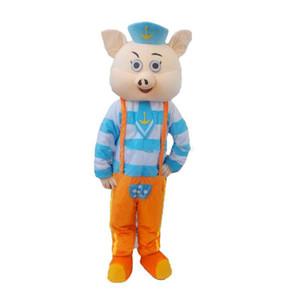 2019 alta qualidade porco mascote dos desenhos animados, fotos físicas da fábrica, qualidade garantida, bem-vindo compradores para a avaliação e fotos de carga