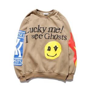 Männer Design Smiley Flamme Letter Print Rundhalsausschnitt-Sweatshirt Männer und Frauen Paar Tide Plus-Samtjacke