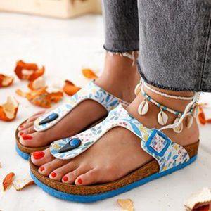 OllyMurs señoras de cuero FlipflopCork Zapatilla Mujeres Zapatos Inicio Oficina SlippersBeachSummer chancletas de SandaliasDe VeranoPara Mujer