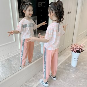 qB3mV Girls summer 2020 little girl short-sleeved sports wear two-piece Girls summer suit 2020 little girl short-sleeved sports children's w