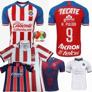 Liga MX 19 20 21 Guadalajara Fußball-Trikot CHIVAS A.PULIDO I.Brizuela A.Vega 2018 2019 2020 2021 Fußball Männer, Frauen und Kinder T-Shirt