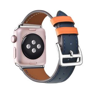 Adecuado para la correa de círculo de cuero de cuero de cuero de Apple Serie de pulsera 4 Correa de repuesto, con adaptador IWATCH5 Strap 38mm40mm 42mm44mm