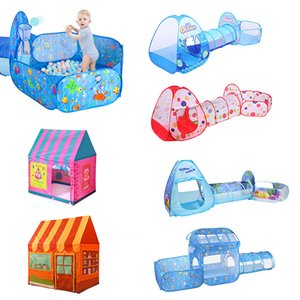 Indoor Outdoor Play Tent Baby Ball Pool Portable Kids Tent Toy Set Folding Baby Play House Castle Toys for Children Xmas Gifts