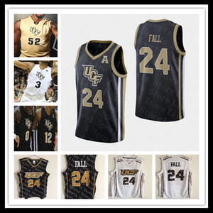 Custom UCF Knights College Basketball Jerseys 24 Tacko Fall 1 B. J. Taylor 2 Terrell Allen 15 Aubrey Dawkins 35 Collin Smith pas cher