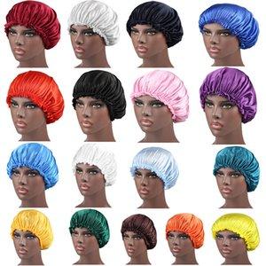 العلامة التجارية مصمم Durags مسلم النساء الحرير الحرير تنفس باندانا ليلة النوم العمامة قبعة حك بونيه الكيماوي كاب Durag اكسسوارات للشعر