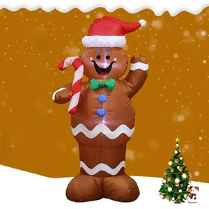 HobbyLane 1.5m Inflatable Gingerbread Man Prop for Christmas Party Yard Decor Santa Claus Decoration Balloons