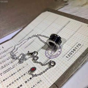s925 sterling silver necklace beautiful jewelry ladies female birthday christmas gift couple black ceramic clavicle chain simple famous bran