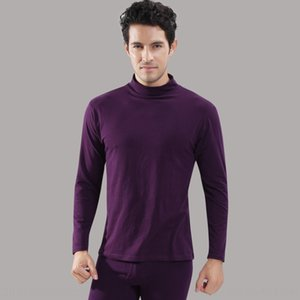 Modal high collar men's suit thin men's autumn clothes and trousers basic Thermal Underwear base thermal underwear set
