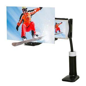 شاشة الهاتف المحمول المكبر أكريليك ABS 12 بوصة HD عدسة فيلم 3D فيديو مكبر للصوت مع مرنة المتوسع كسلان شخص كليب حامل