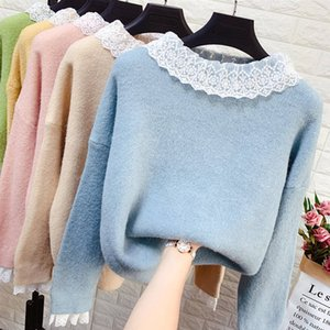2020 nuevo de la manera suéter de punto de las mujeres largas de la manga del otoño de géneros de punto suéter de los suéteres suéteres de invierno de mujeres Jumper P310