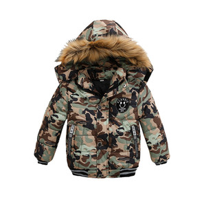 Retail kids winter coats boys designer Luxury camouflage thick padded hooded jackets down coat fashion jacket outwear