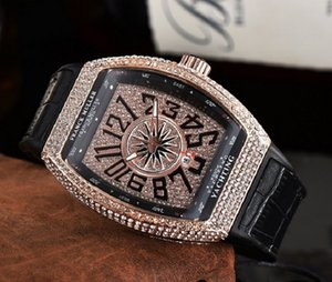 di lusso del mens di alta qualità orologi al quarzo orologi di marca donne di marca Franck Diamond Bezel signore accessori moda di trasporto libero
