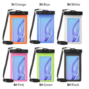 Bolsa Bolsa seca caso impermeable de PVC de protección universal de la bolsa del bolso del teléfono con el compás Bolsas para el salto de natación para Smartphone hasta 5,8 pulgadas