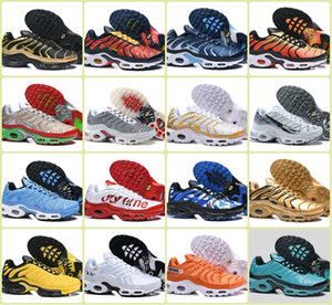 Großhandel 2019 Tn Plus-Betrieb Sports Schuhe Cheap Air TN PLUS Chaussures Schwarz Gelb Herren Hummel Be True Mercurial Ultra-Turnschuhe